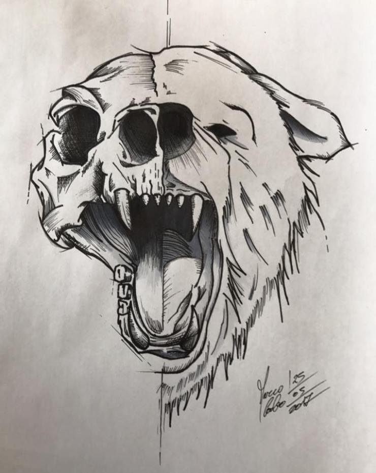 bear tattoo scetch